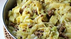 You can make haluski, a comforting, hearty dish of bacon, egg noodles and cabbage, with only five ingredients in about half an hour.