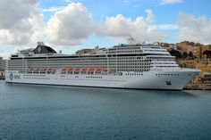 MSC cruise ship in Malta