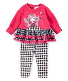 Look at this #zulilyfind! Fuchsia Fairy Princess Tunic & Leggings #zulilyfinds