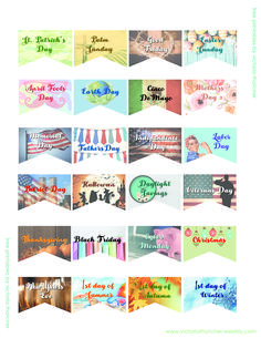 #printable planner themes... very nice ones, too!