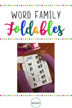 Word Family Foldables {Short Vowel CVC Word Families} Check out these short vowel word family foldables! They have CVC word families activities, complete with reading and writing practice! Perfect for kindergarten and grade one! Word Family Activities, Cvc Word Families, Reading Practice, Reading Groups, Cvc Words, Sight Words, Short Vowels, Kindergarten Reading, Learning Centers