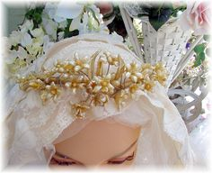 Antique Wax Orange Blossoms Bridal Headpiece by frenchgardenhouse, via Flickr