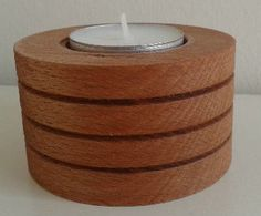 wooden candle holder, 7x4cm