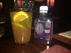 Minty Booster Guarana mocktail, Ice tea, lemon/lime, Smart Syrup Guarana and fresh mint.