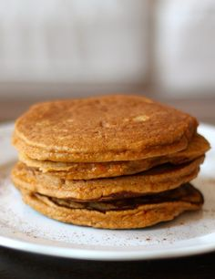 These Paleo Sweet Potato Pancakes are made using mashed sweet potato to create moist, fluffy grain-free pancakes! For once I'm going to avoid rambling and just tell you the facts: 1. These are the best paleo pancakes I've made to date. 2. They're stinkin' easy to make and can even be reheated in the microwave...