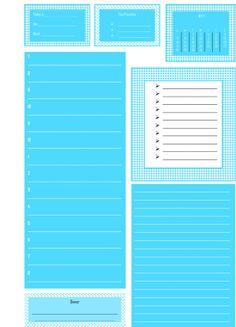12 Month Filofax Daily Insert Planner Blue