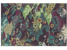 Wool rug with floral pattern AIKO by Kasthall design Gunilla Lagerhem Ullberg