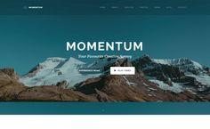 Momentum - Best Premium WordPress One-Page Themes 2017