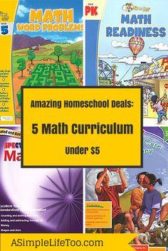 Amazing Homeschool Deal of the Day: 5 Math Curriculum Under $5