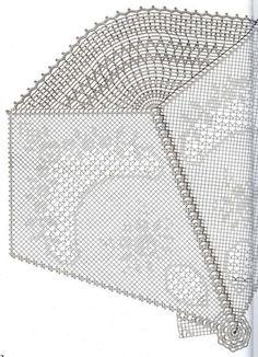 Photo by Sanaa Ali Filet Crochet, Crochet Doily Diagram, Crochet Doily Patterns, Crochet Mandala, Crochet Round, Crochet Chart, Crochet Home, Thread Crochet, Crochet Motif
