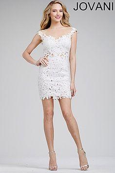 Lace Embellished Short Dress 24228