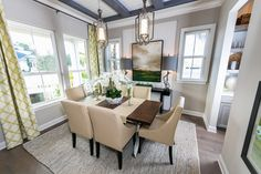 For family dinners and discussions - Formal Dining Room - The Hemingway by Dostie Homes