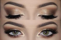 ♡ Soft Smokey Eyes & Gold Glitter | Make Up Tutorial ♡