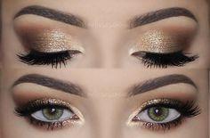 ♡ Soft Smokey Eyes & Gold Glitter | Make Up Tutorial ♡