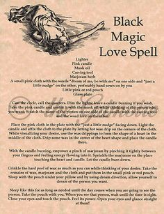 Black Magic Love Spell, Book of Shadows Pages, BOS, Wiccan, Witchcraft, Magick