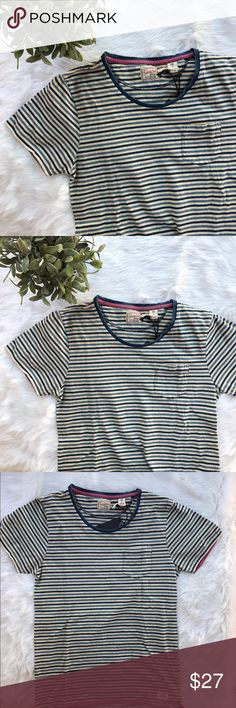 "Scotch & soda} Stripped classic t-shirt NWT Scotch & Soda t-shirt   • one pocket t shirt  • New with tags   •length 25"" •chest 17"" Scotch & Soda Tops Tees - Short Sleeve"