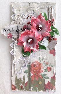 a little bit of us: Best wishes Floral Wreath, Scrapbook, Wreaths, Card Ideas, Mixed Media, Cards, Home Decor, Flower Crowns, Door Wreaths
