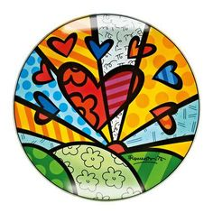 Hearts Glass Bowl by Pop Artist Romero Britto ~ Goebel Victorian Era, Pottery Art, Art Lessons, Heart Shapes, Erotic, Arts And Crafts, Symbols, Glass, Cards