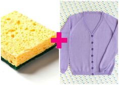 Remove Sweater Pills With a Sponge