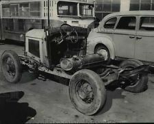 1955 Press Photo Home made tractor, built from converted automobole - orb77915