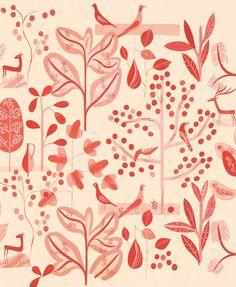 Textile Design (red)