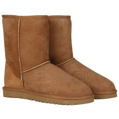 UGG Women's Classic Short Boots - Chestnut ($185) ❤ liked on Polyvore featuring shoes, boots, ankle booties, uggs, chaussures, chestnut, long boots, ugg australia boots, chestnut boots and short boots