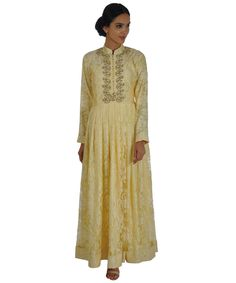 Chantilly lace anarkali