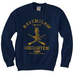 25 Magical Items For The Ravenclaw In Your Life - Fandom Shirts - Ideas of Fandom Shirts - This sweater which will remind everyone what team you're on. Pull Harry Potter, Harry Potter Sweater, Harry Potter Outfits, Sweat Shirt, Crew Neck Sweatshirt, Crew Shirt, Ravenclaw Quidditch, Ravenclaw Memes, Costume Ideas