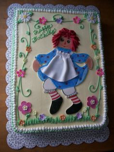 Raggedy Ann — Birthday Cake Photos