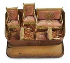 Kaleidoscope: 12 French Miniature Furnishings with Gilt Paper Ornamentation in Original Box