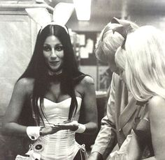 Apparently in the Easter spirit, Playboy founder Hugh Hefner dug up a classic photo of the icon dressed as a Playboy bunny at one of his clubs during the early Hef decided to share the classic photo on his social media as part of Charlotte Rampling, Alexa Chung, Twiggy, The Playboy Club, Cher Photos, Cher Bono, Divas, Hugh Hefner, Bunny Outfit
