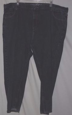 Nautica Blue Cotton Denim Relaxed Fit Jeans size 52W X 28L #Nautica #Relaxed