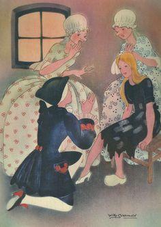 Cinderella, Willy Schermele illustration