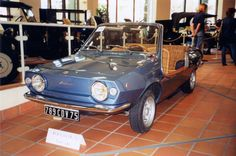 Giovanni Michelotti in collaboration with yacht designer Phillip Schell - Fiat 850 spider -, one was used by Jacqueline Onassis on the island of Skorpios