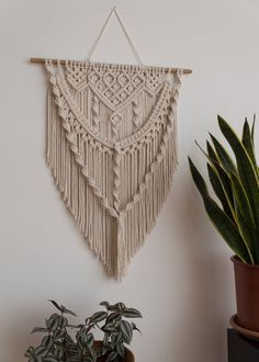 Macrame Wall Hanging Bohemian Decor Home Accessories Wall Hanger Macrame Wall Art Macrame Hanger Wall Tapestry Fiber Art Home Gifts Accessories Art Bohemian Decor fiber Gifts Hanger Hanging Home homeaccessoriesdecorwallart Macrame Tapestry Wall Macrame Design, Macrame Art, Macrame Projects, Macrame Mirror, Macrame Curtain, Macrame Knots, Art Macramé, Macrame Wall Hanging Patterns, Large Macrame Wall Hanging