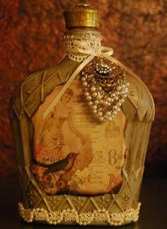 Vintage bottle by SugarShakDesigns on Etsy