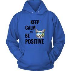 Keep Calm Cat Unisex Hoodie T-Shirt (10 Colors)