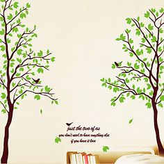 Wall+Stickers+Wall+Decals,++Green+Tree+PVC+Wall+Stickers+–+USD+$+10.99