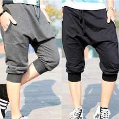 Stylish Casual Quarter Saggy Pants Trousers Shorts Cording For Men Boys Girls Teenagers