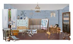 Vintage baby by sterlingkitten on Polyvore featuring interior, interiors, interior design, home, home decor, interior decorating, Cyan Design, Broste Copenhagen, Shabby Chic and Bonpoint