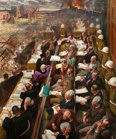 Dame Laura Knight: Nuremberg Trials.A girl who made it into art school at 13 was always going to go far in life. And as a pioneering painter of women and war, Dame Laura Knight – the subject of a new exhibition – didn't disappoint. By Kathryn Hughes