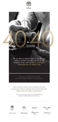 De Corato Email Promotions by Emily Ballas, via Behance