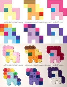 My Little Pony Perler beads by wondering-souls on deviantART