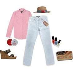 """""""Red, white and Bullet Blues"""" by #bulletblues on Polyvore www.bulletbluesca.com #madeinUSA #jeans #fashion"""