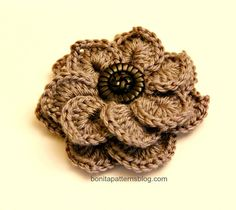 Crocodile Stitch Double Layer Flower 2