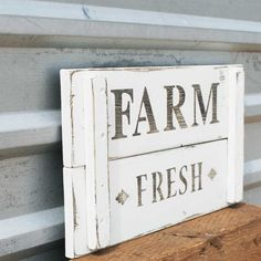 On Etsy for $35. We would get so much use out of this!   Farm Fresh sign, Farmhouse Decor, Country Market