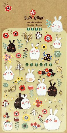 One sheet of bonny sticker Size : 3.62 x 5.83 (9.2cm x 14.8cm)  Great planner sticker and ready for use in your Erin Condren life planner and others.  Can be also used on calenders, scrapbooking, altered projects and much more  Made in Korea Product