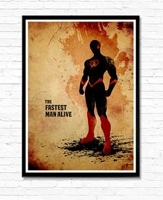 Der schnellste Mann lebendig minimalistischen Flash-Film Poster