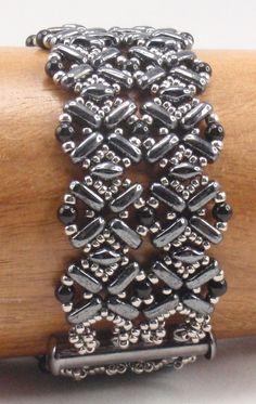 Instructions for Flatiron Bracelet   Beading Tutorial by njdesigns1 on Etsy https://www.etsy.com/listing/255333424/instructions-for-flatiron-bracelet