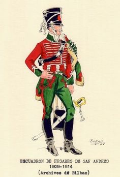 Húsares de San Andrés 1808-14 Independence War, Empire, French Army, French Revolution, Men In Uniform, Spain And Portugal, Napoleonic Wars, Military History, 16th Century